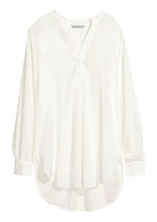 H&M H & M - Crêped Blouse - White