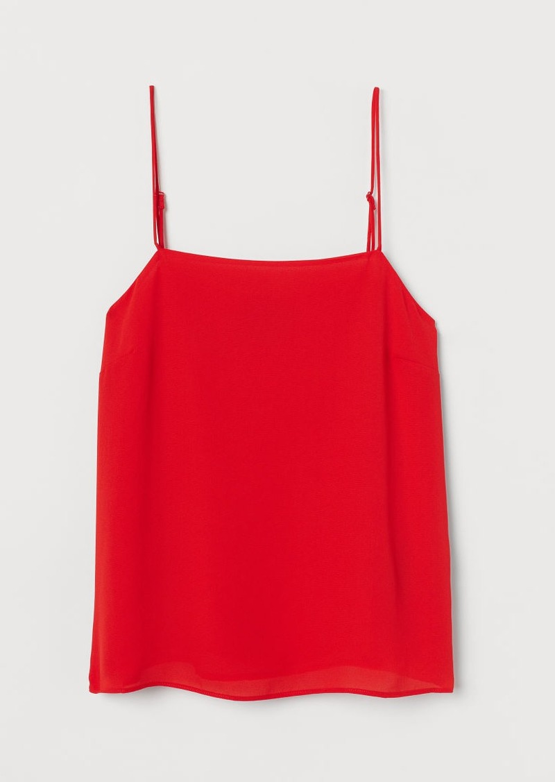H&M H & M - Crêped Camisole Top - Red
