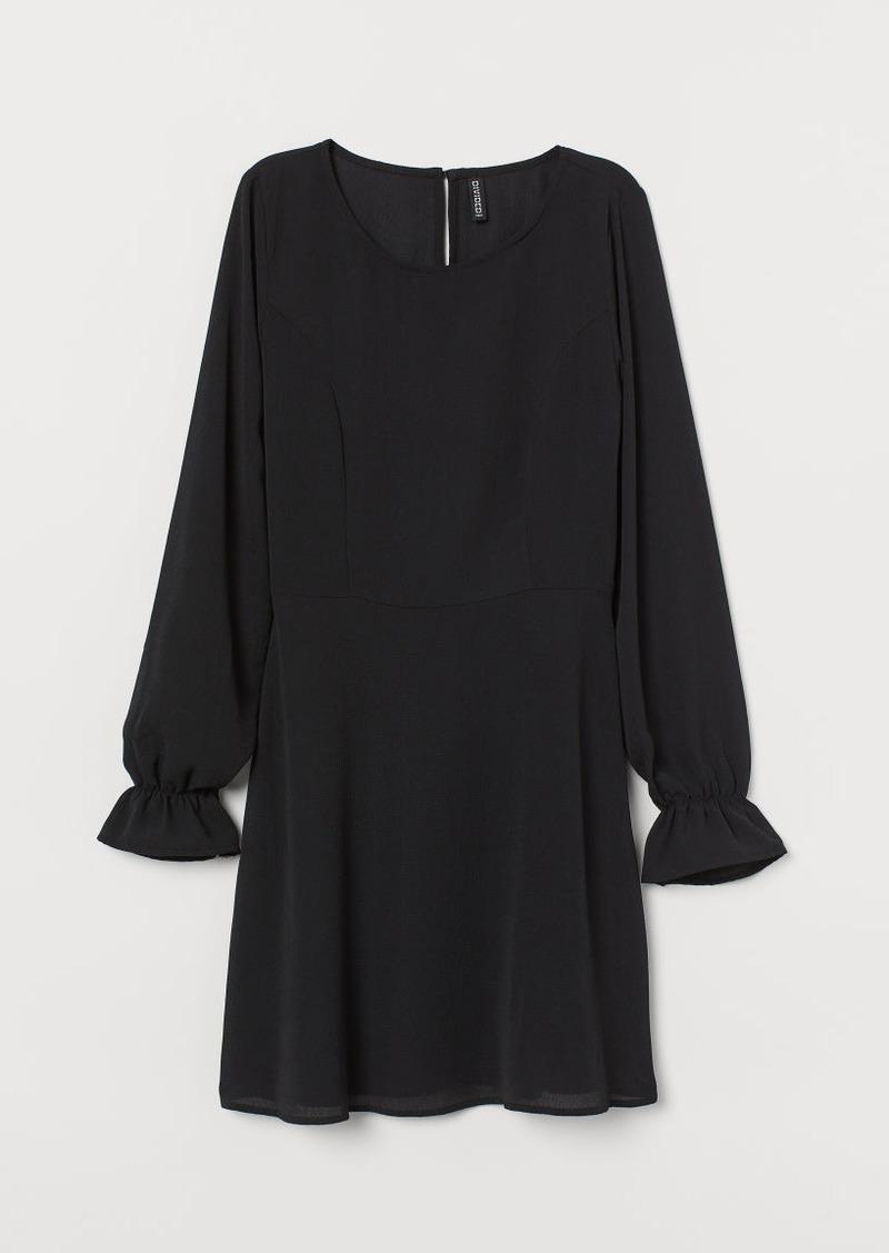 H&M H & M - Crêped Dress - Black