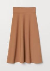 H&M H & M - Crêped Jersey Skirt - Beige