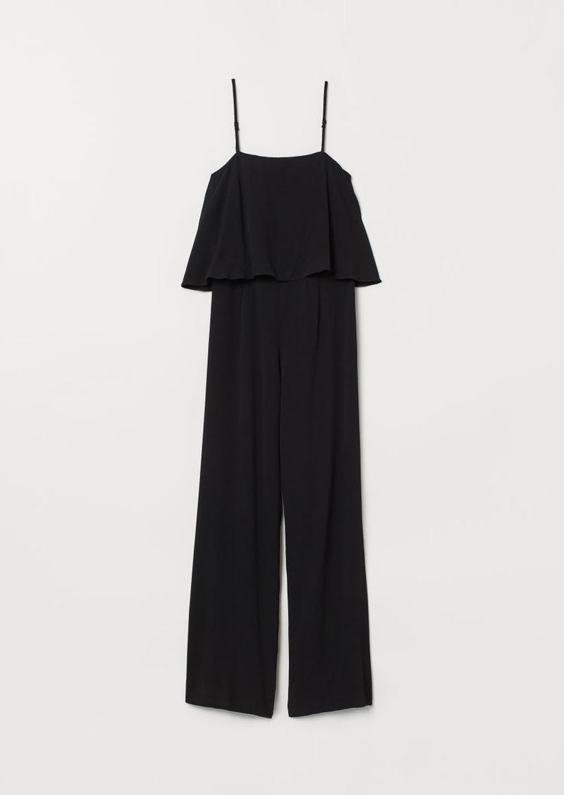 H&M H & M - Crêped Jumpsuit - Black