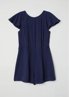 H&M H & M - Crêped Jumpsuit - Blue