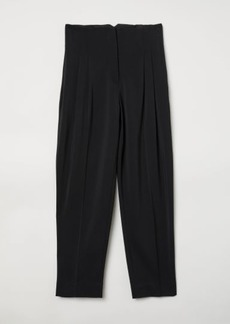 H&M H & M - Crêped Pants - Black