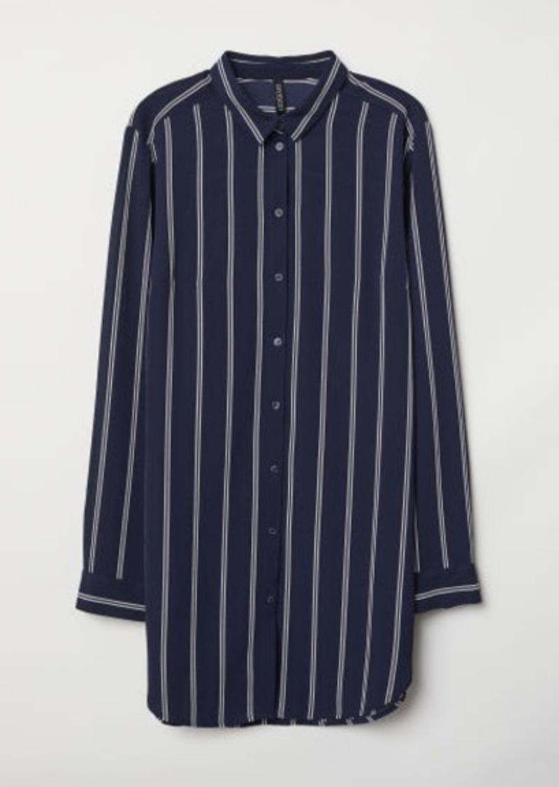 H&M H & M - Crêped Shirt - Blue
