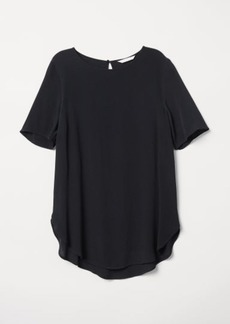H&M H & M - Crêped Top - Black