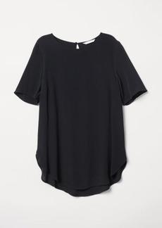 H&M H & M - Crêped Top - Black