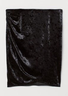 H&M H & M - Crushed-velvet Skirt - Black