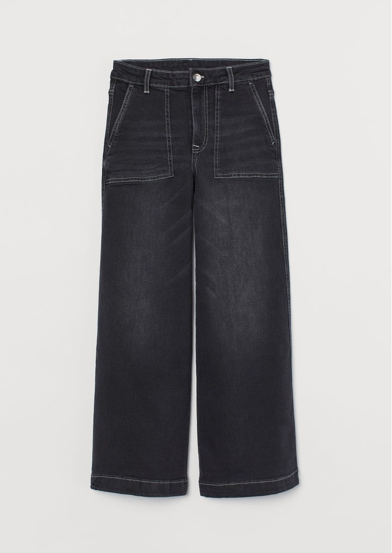 H&M H & M - Culotte High Ankle Jeans - Black