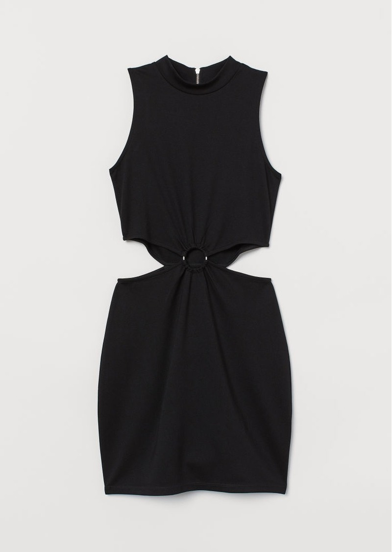 H&M H & M - Cut-out Dress - Black
