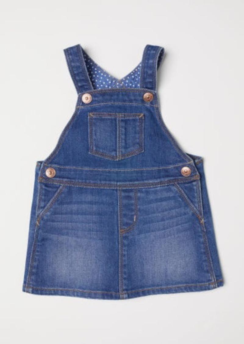 H&M H & M - Denim Overall Dress - Blue