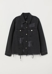 H&M H & M - Denim Jacket Trashed - Black
