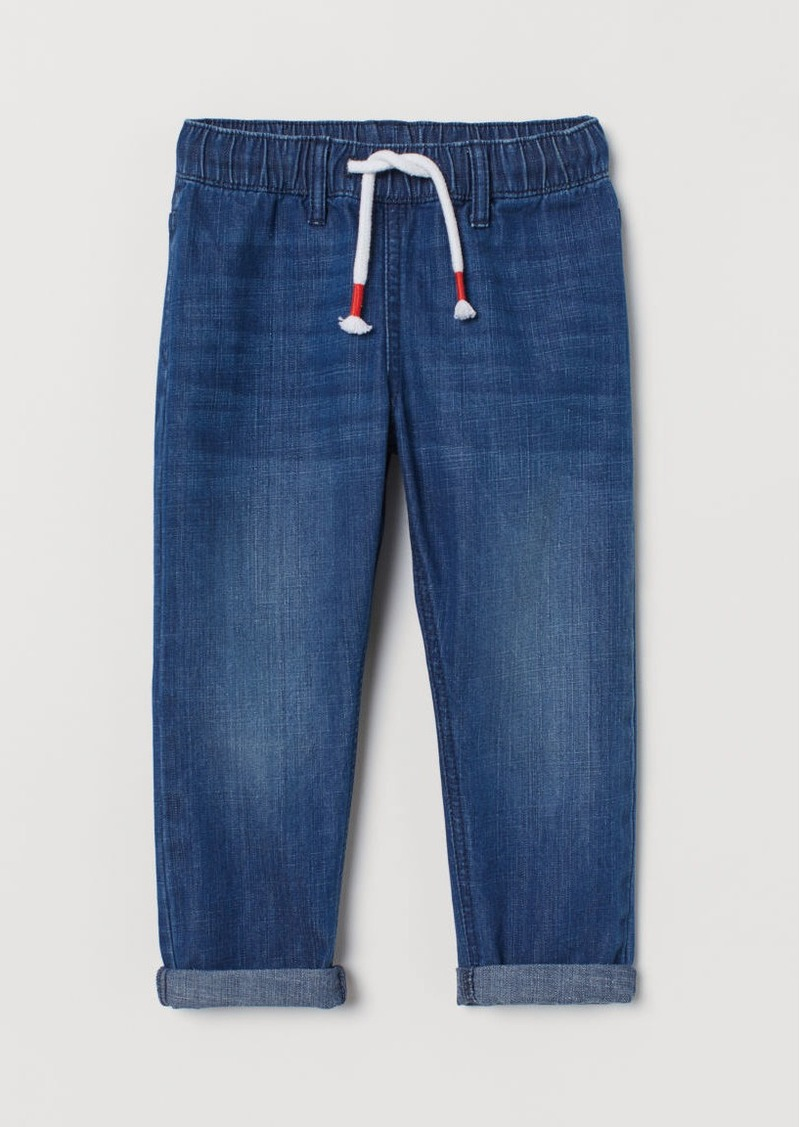 H&M H & M - Denim Joggers - Blue