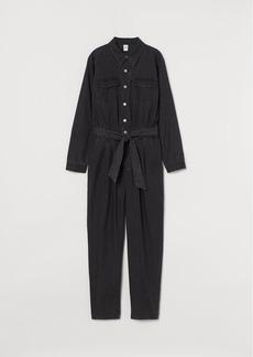 H&M H & M - Denim Jumpsuit - Black