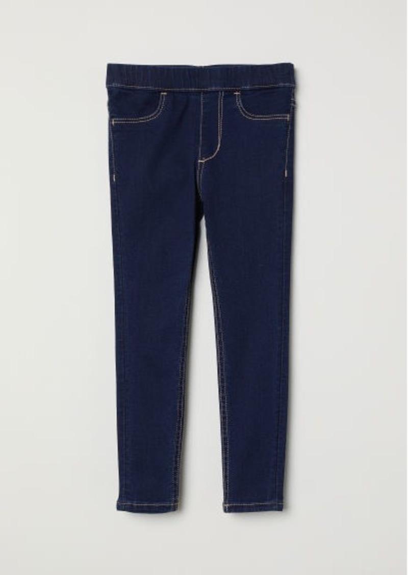 H&M H & M - Denim Leggings - Blue