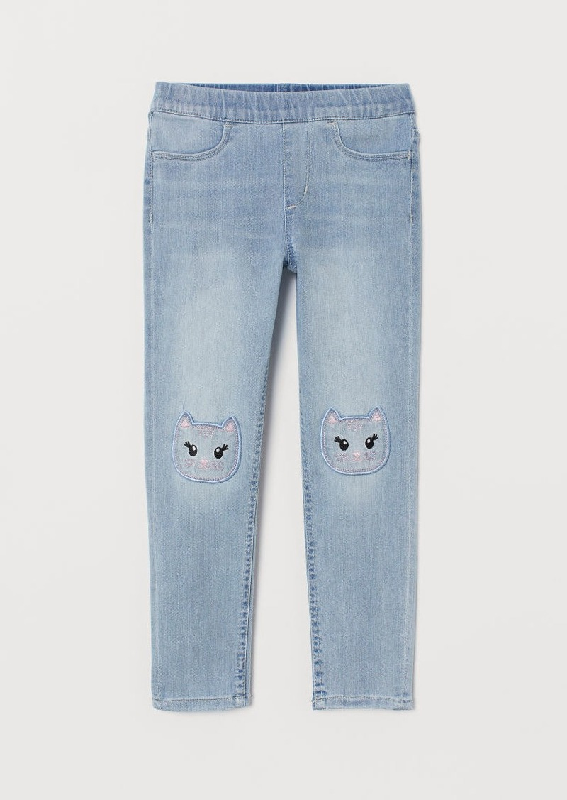 H&M H & M - Denim Leggings - Blue