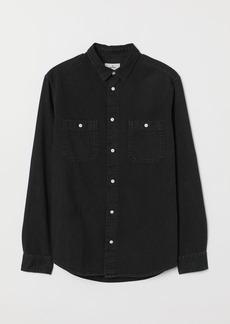 H&M H & M - Denim Shirt - Black