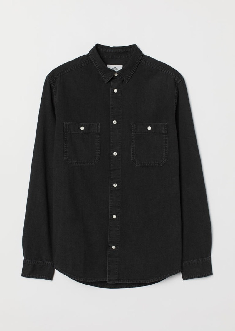 H&M H & M - Denim Shirt - Black