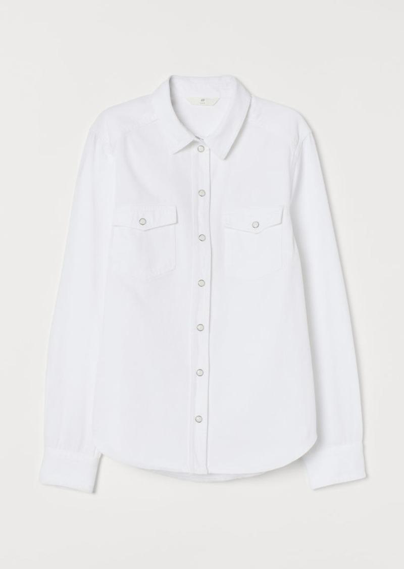 H&M H & M - Denim Shirt - White