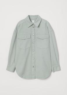 H&M H & M - Denim Shirt Jacket - Turquoise