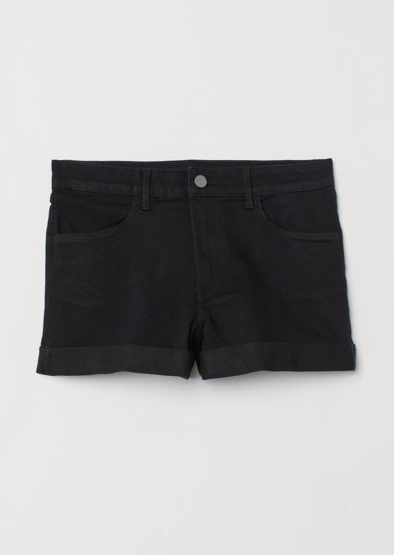 H&M H & M - Denim Shorts - Black