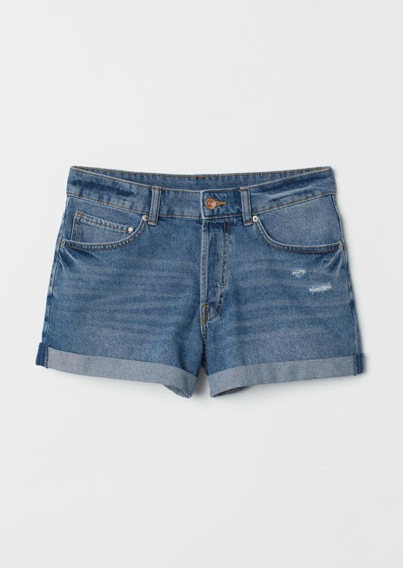 H&M H & M - Denim Shorts Boyfriend - Blue