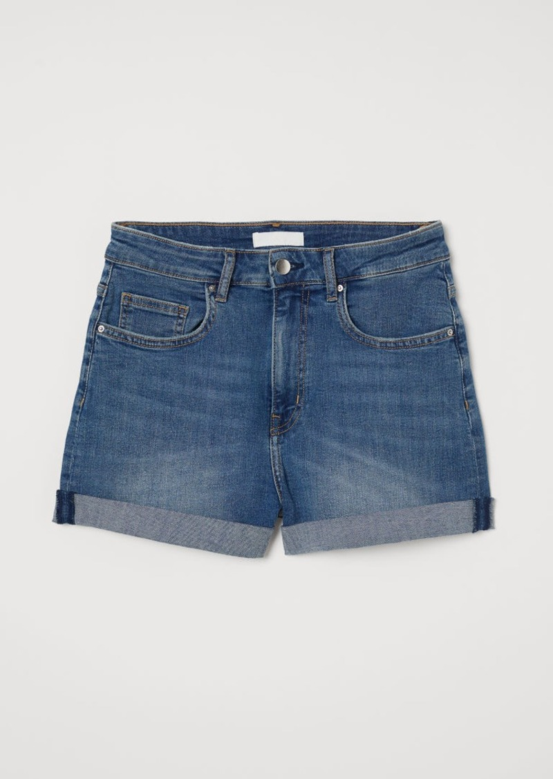 H&M H & M - Denim Shorts Girlfriend - Blue