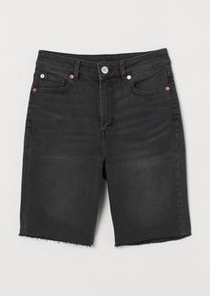 H&M H & M - Denim Shorts High Waist - Black