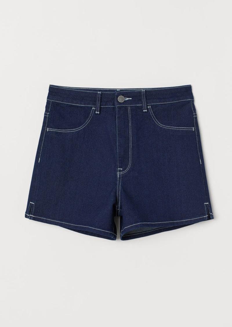H&M H & M - Denim Shorts High Waist - Blue