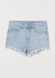 H&M H & M - Denim Shorts High Waist - Turquoise