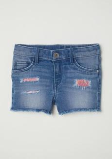 H&M H & M - Denim Shorts with Sequins - Blue