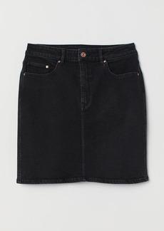 H&M H & M - Denim Skirt - Black