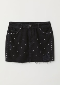 H&M H & M - Denim Skirt with Studs - Black