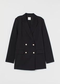 H&M H & M - Double-breasted Jacket - Black