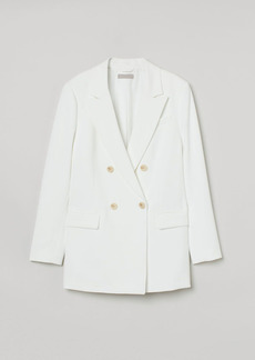 H&M H & M - Double-breasted Jacket - White