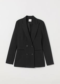 H&M H & M - Double-breasted Jersey Jacket - Black