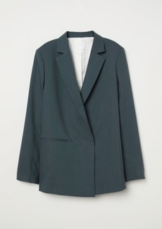 H&M H & M - Double-breasted Wool Jacket - Green
