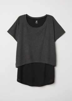H&M H & M - Double-layered Sports Top - Black