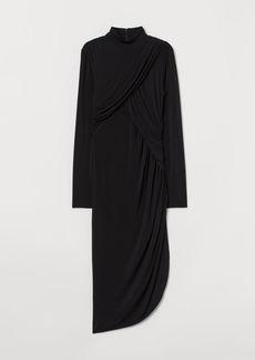 H&M H & M - Draped Dress - Black