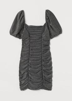 H&M H & M - Draped Glittery Dress - Gray