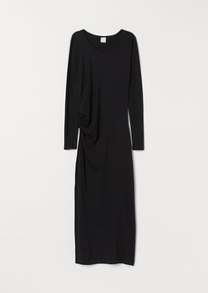 H&M H & M - Draped Jersey Dress - Black