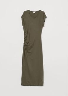 H&M H & M - Draped Jersey Dress - Green