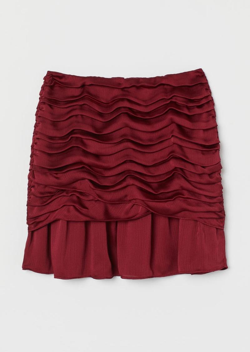 H&M H & M - Draped Skirt - Red
