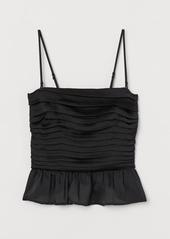 H&M H & M - Draped Top - Black
