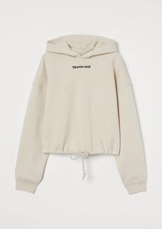 H&M H & M - Drawstring Hoodie - Beige
