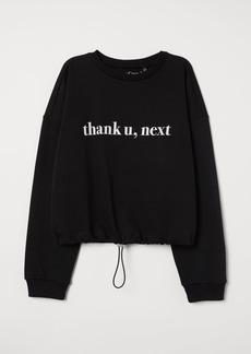 H&M H & M - Drawstring Sweatshirt - Black