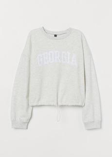 H&M H & M - Drawstring Sweatshirt - Gray
