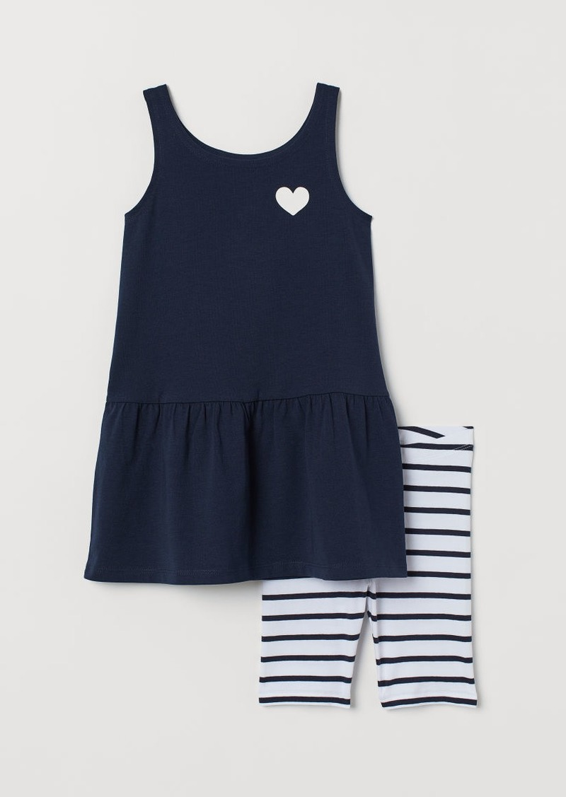 H&M H & M - Dress and Cycling Shorts - Blue