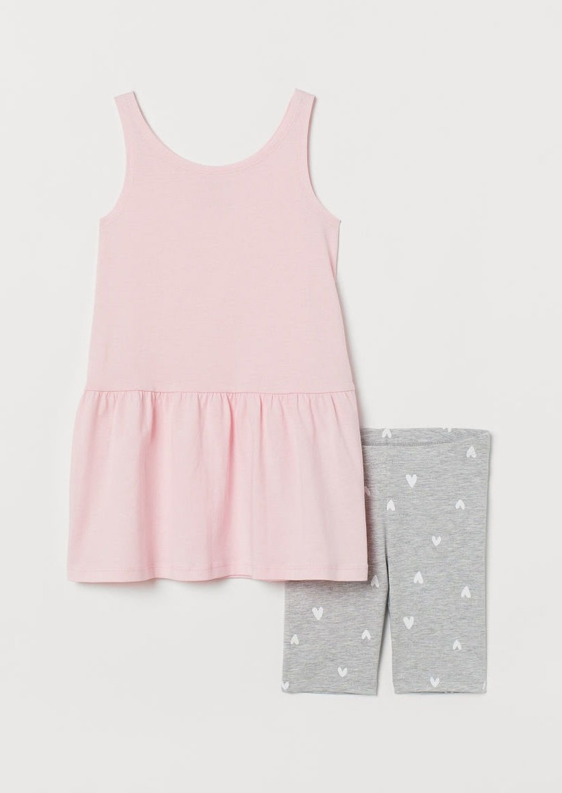 H&M H & M - Dress and Cycling Shorts - Pink