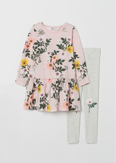 H&M H & M - Dress and Leggings - Pink