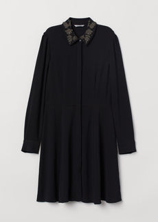 H&M H & M - Dress with Collar - Black